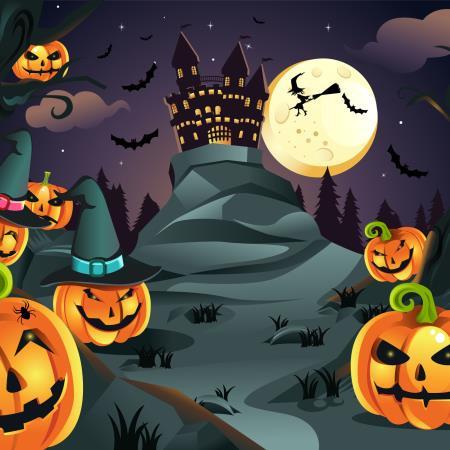 Yendo al castillo Halloween