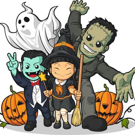 Acá los Monstruos de Halloween